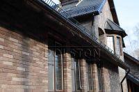 Фото отделки окна кирпичом, баварская кладка кирпича ГОРЬКИЙ ШОКОЛАД