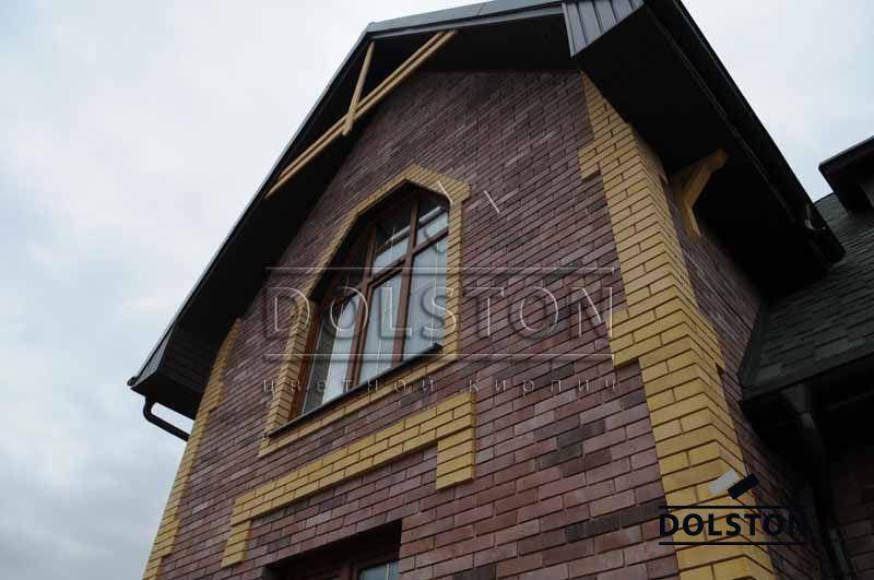 Фото дома из кирпича баварская кладка баварская кладка облицовочного кирпича ТЕРРАКОТ