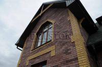 Фото дома из кирпича баварская кладка, баварская кладка облицовочного кирпича ТЕРРАКОТ
