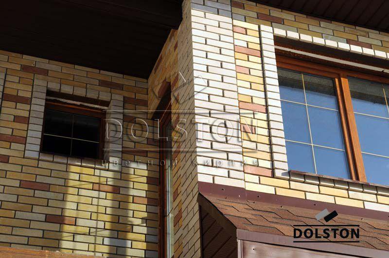 Фото отделки окна гладким кирпичом гладкий кирпич облицовочный СЕРЫЙ