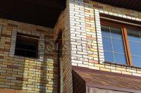 Фото отделки окна гладким кирпичом, гладкий кирпич облицовочный СЕРЫЙ