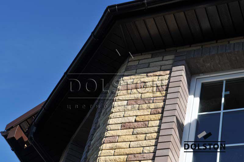 Фото дома из кирпича баварская кладка баварская кладка кирпича ЖЕЛТО-СЕРЫЙ