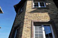Фото эркера (баварская кладка кирпича), баварская кладка кирпича ЖЕЛТО-СЕРЫЙ