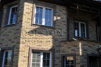 Фото дома из кирпича баварская кладка, баварская кладка кирпича ЖЕЛТО-СЕРЫЙ