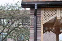 Фото столба с облицовкой плиткой под кирпич, плитка под фасадный кирпич ГОРЬКИЙ ШОКОЛАД