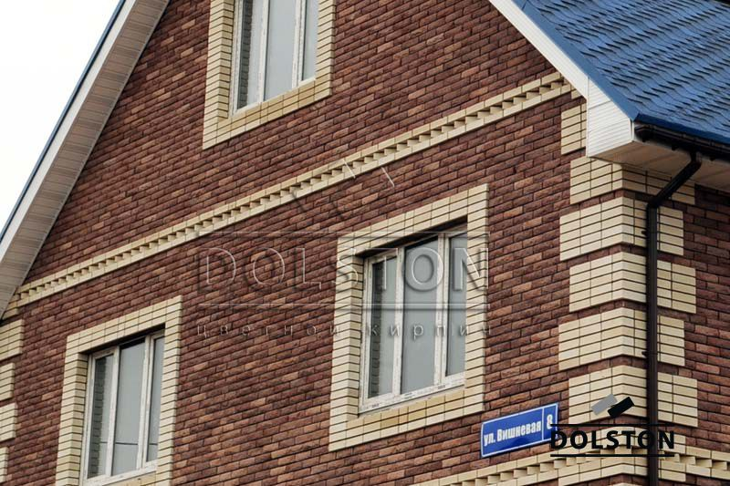 Фото дома из кирпича баварская кладка баварская кладка кирпича ТЕРРАКОТ