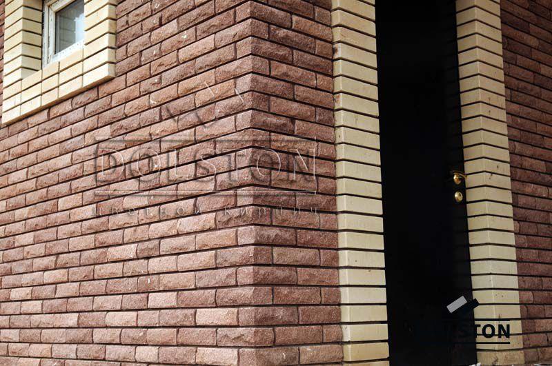 Фото отделки окна гладким кирпичом гладкий облицовочный кирпич БЕЖЕВЫЙ
