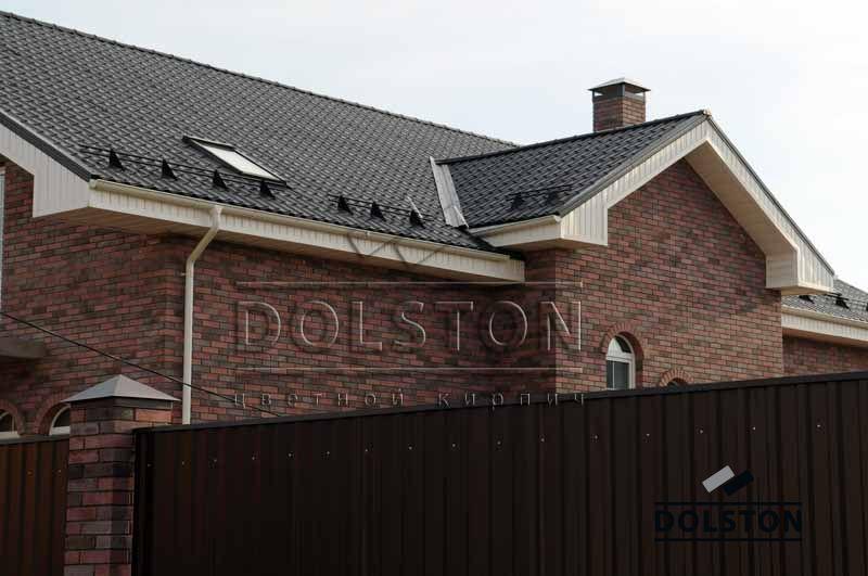 Фото дома из кирпича баварская кладка баварская кладка облицовочного кирпича ЧЕРНИКА