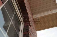 Фото отделки окна кирпичом, баварская кладка облицовочного кирпича ЧЕРНИКА