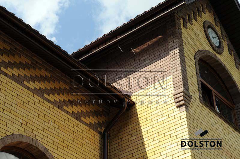 Фото вставок рваного кирпича в кирпичную стену скала облицовочный кирпич ГОРЬКИЙ ШОКОЛАД