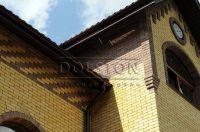 Фото вставок рваного кирпича в кирпичную стену, скала облицовочный кирпич ГОРЬКИЙ ШОКОЛАД