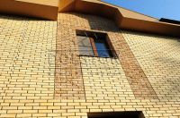 Фото вставок рваного кирпича в кирпичную стену, скала кирпич облицовочный СОЛОМА