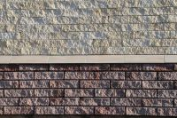 Пример кладки плитки под кирпич, плитка фасадная PORTO FACADE (красный)