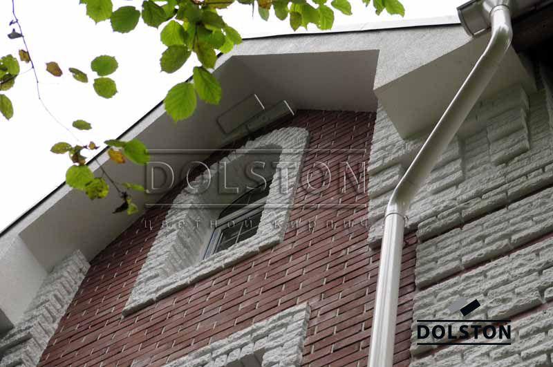 Фото дома из облицовочного кирпича облицовочный кирпич BUNT (красный)