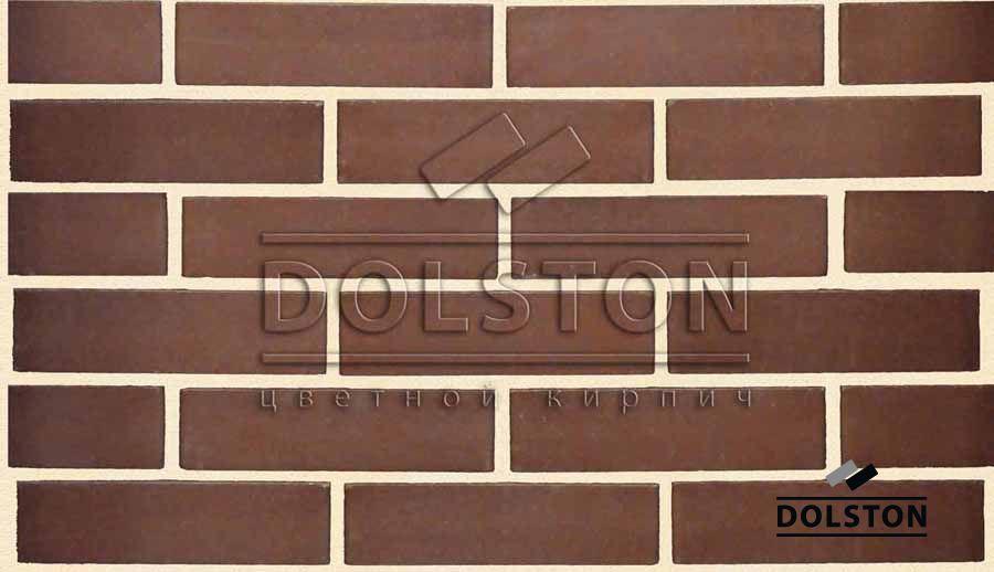 Пример кладки кирпича кирпич облицовочный TILSTON (коричневый)