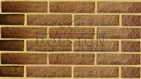 Пример кирпичной кладки, кирпич облицовочный TILSTON ROCK (коричневый)