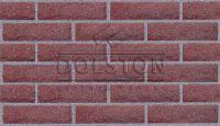Пример кирпичной кладки, кирпич облицовочный СINNABAR ROCK(красный)