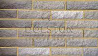 Пример кладки камня из кирпича, кирпич облицовочный KALUMBA ROCK (серый)