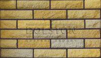 Пример кладки камня из кирпича, кирпич облицовочный SHELL ROCK (желтый)