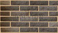 Пример кладки камня из кирпича, кирпич облицовочный PYRANO BLEND ROCK (коричневый)