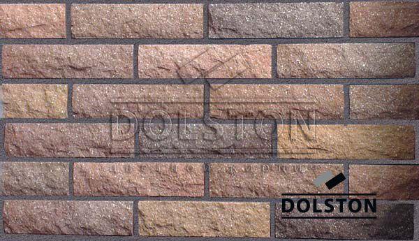 Пример кладки камня из кирпича кирпич облицовочный JECKER ROCK (коричневый)