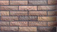 Пример кладки камня из кирпича, кирпич облицовочный JECKER ROCK (коричневый)