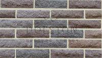 Пример кладки камня из кирпича, кирпич облицовочный AREZZO ROCK (коричневый)