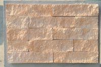 Пример кладки плитки под кирпич, плитка фасадная MAGMA FACADE (оранжевый)