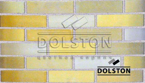 Пример кладки кирпича кирпич облицовочный PEARY (желтый)