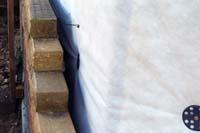Обкладка цоколя деревянного дома кирпичом по пласти